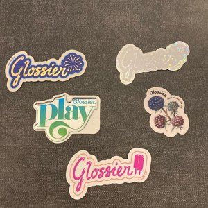 [NWT] Glossier Decals [Set of 5 Stickers]